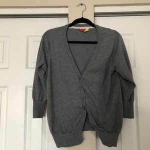 Modcloth grey dotted cardigan
